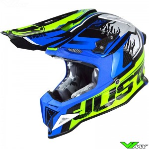 Just1 J12 Helmet Dominator Fluo Yellow / Blue