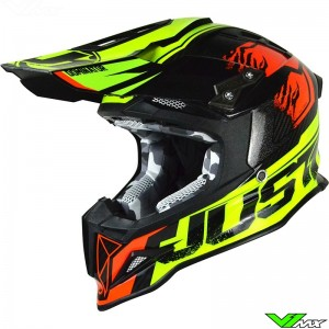 Just1 J12 Helmet Dominator Fluo Yellow / Red