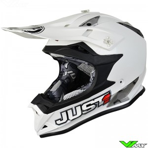 Just1 J32 Pro Motocross Helmet Solid White