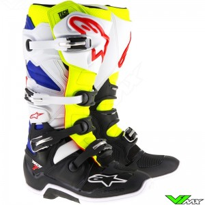 Alpinestars Tech 7 Motocross Boots White / Fluo Yellow / Blue