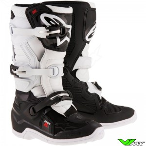 Alpinestars Tech 7s Crosslaarzen Zwart / Wit
