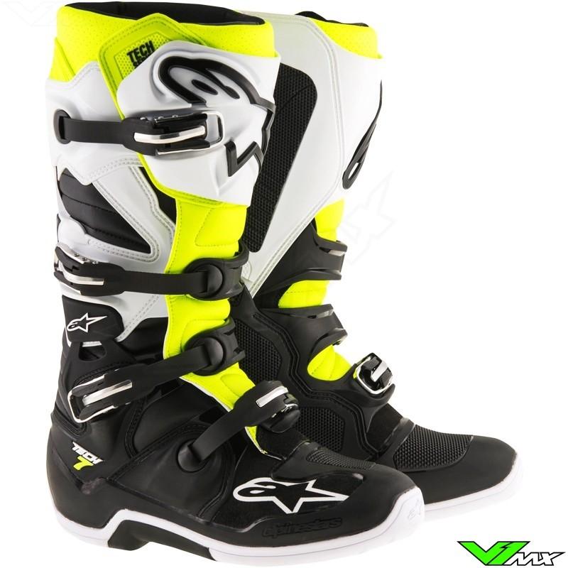 Alpinestars Tech 7 Motocross Boots Fluo Yellow