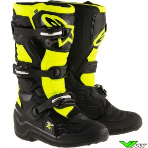 Alpinestars Tech 7s MX Boots Black / Fluo Yellow