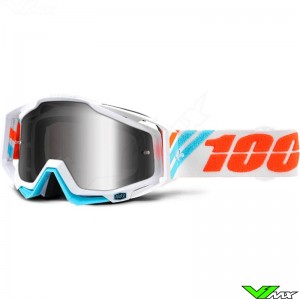 100% Racecraft Crossbril Calculus Ice - Mirror Lens