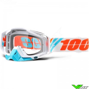 100% Racecraft Goggle Calculus Ice - Clear Lens