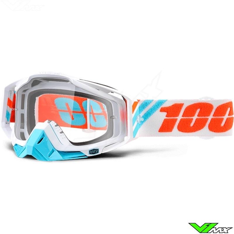 100% Racecraft Goggle Calculus Ice - Clear Lens
