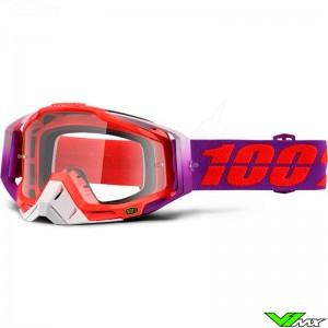 100% Racecraft Crossbril Watermelon - Clear Lens