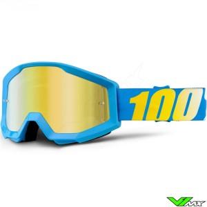 100% Strata Crossbril Cyan - Mirror Lens