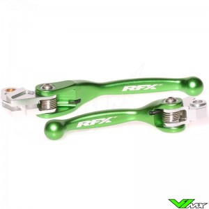RFX Flexible clutch and brake lever set - Kawasaki KX65 KX85 KX125 KX250 Suzuki RMZ250 RMZ450