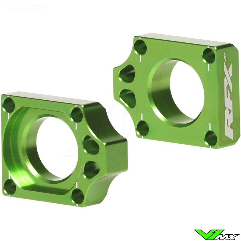 RFX Rear Axel Adjuster Blocks - Kawasaki KX125 KX250 KXF250 KXF450