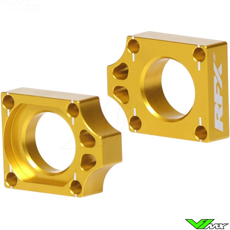 RFX Rear Axel Adjuster Blocks - Suzuki RMZ250 RMZ450