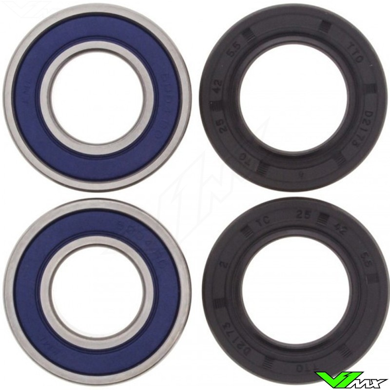 All Balls Rear Wheel Bearing Kit - Kawasaki KX125 KX250 KX500 KLX250 KLX250S KLX300 KLX650R KDX200 KDX220 KDX250