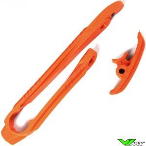 Chain slider swingarm UFO orange - KTM 125EXC 150EXC 200EXC 250EXC 300EXC 450EXC 500EXC 250EXC-F 350EXC-F
