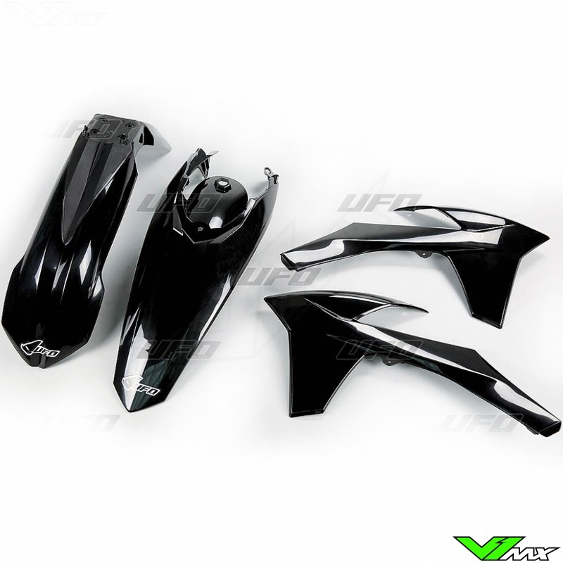 Plastic kit UFO black - KTM 200EXC 250EXC 300EXC 450EXC 500EXC 250EXC-F 350EXC-F