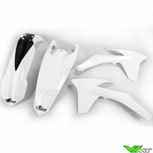 Plastic kit UFO white - KTM 200EXC 250EXC 300EXC 450EXC 500EXC 250EXC-F 350EXC-F
