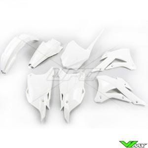 Plastic kit UFO white - Kawasaki KX85