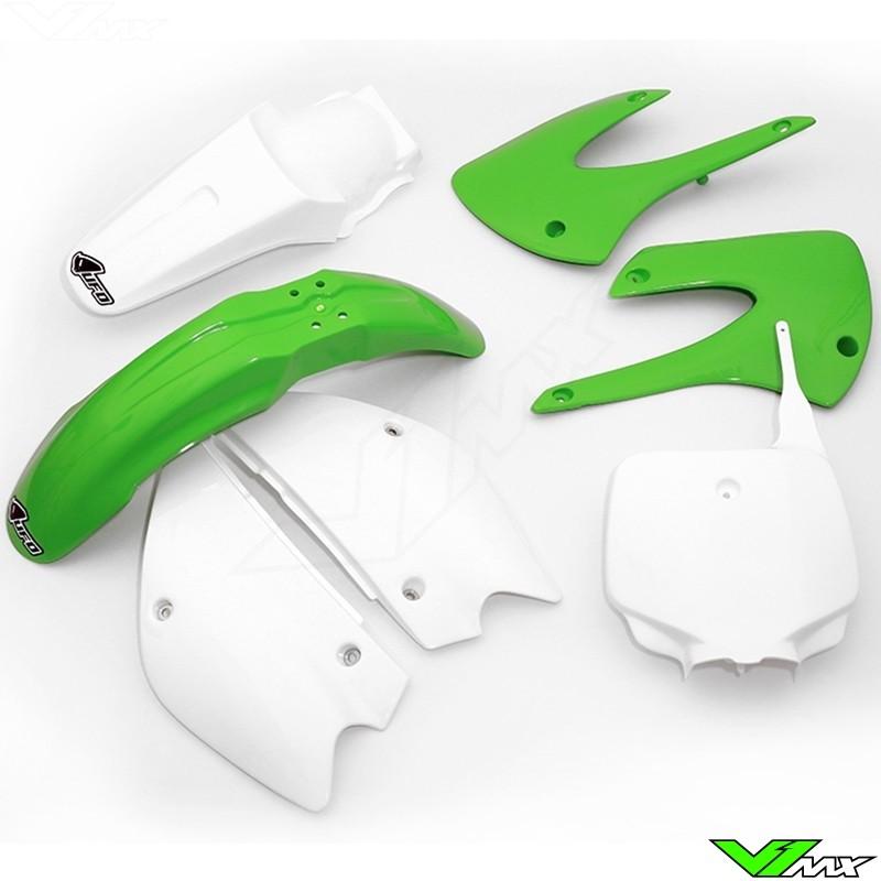 Plastic kit UFO restyle OEM - Kawasaki KX85