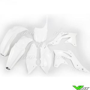 Plastic kit UFO white - Kawasaki KXF250