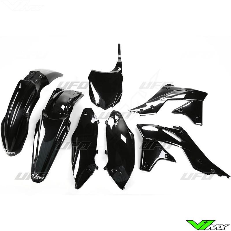 Plastic kit UFO black - Kawasaki KXF250
