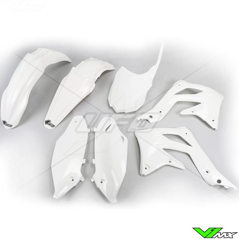 Plastic kit UFO white - Kawasaki KXF450