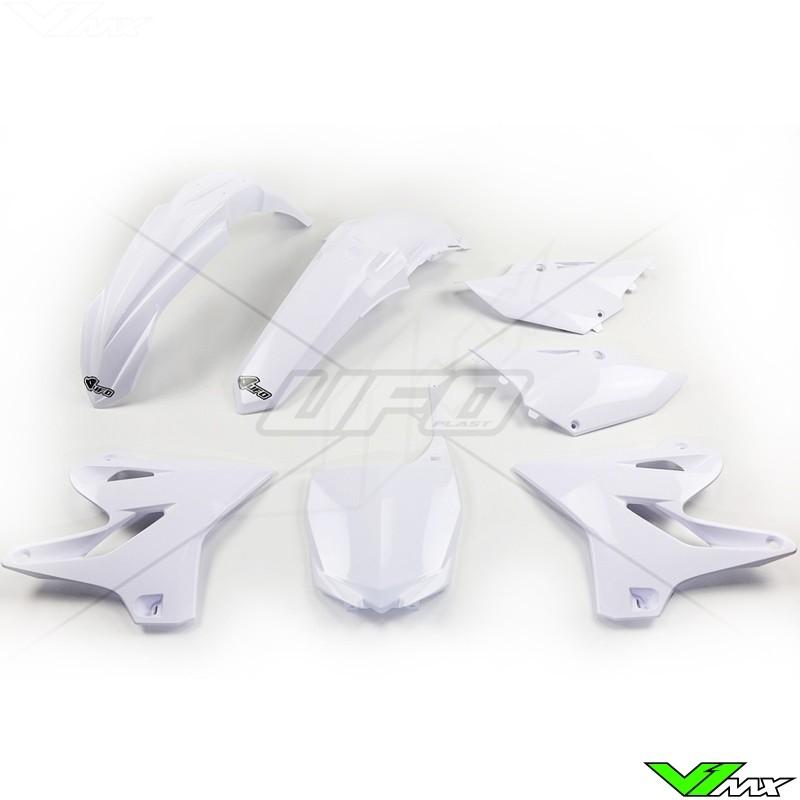 Plastic kit UFO white - Yamaha YZ125 YZ250
