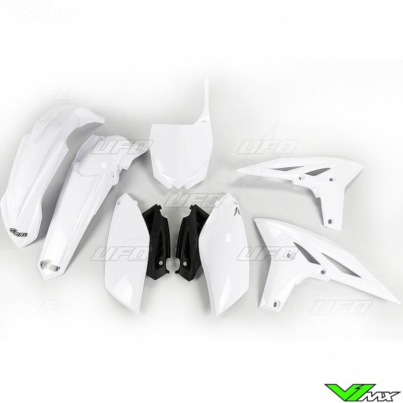 Plastic kit UFO white - Yamaha YZF250