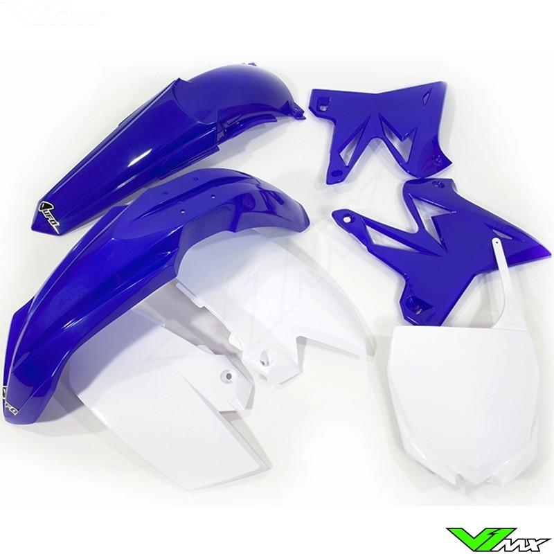 Kappenset UFO Replica 4T, blauw wit (OEM) - Yamaha YZ125 YZ250