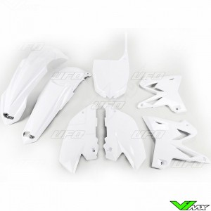 Plastic kit UFO Replica 4T, white - Yamaha YZ125 YZ250