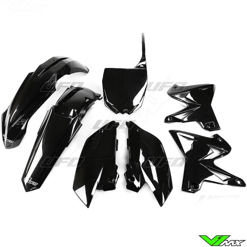 Plastic kit UFO Replica 4T, black - Yamaha YZ125 YZ250