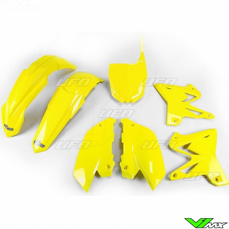 Plastic kit UFO Replica 4T, yellow - Yamaha YZ125 YZ250