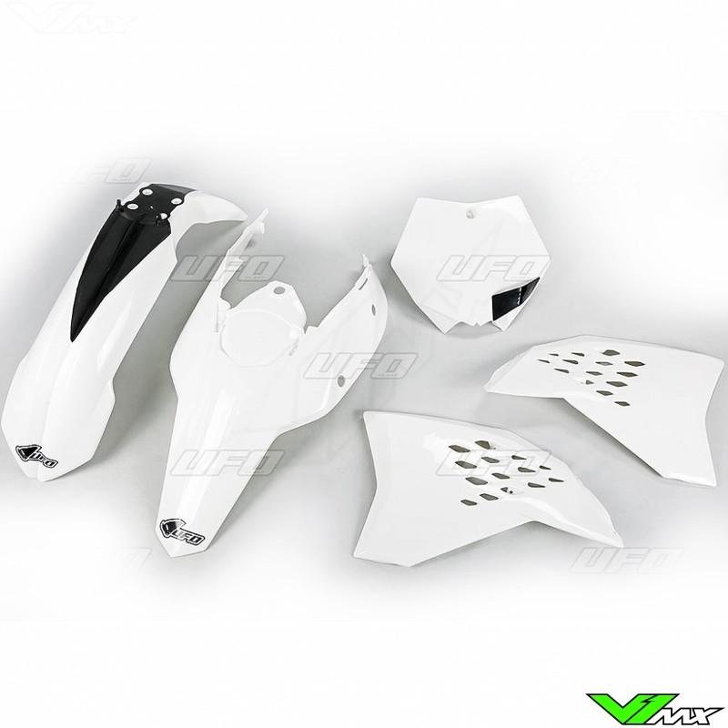 Plastic kit UFO white - KTM 125SX 150SX 250SX 250SX-F 450SX-F 505SX-F