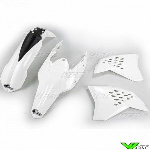 Plastic kit UFO white - KTM 200EXC 250EXC 300EXC 400EXC 450EXC 530EXC 250EXC-F