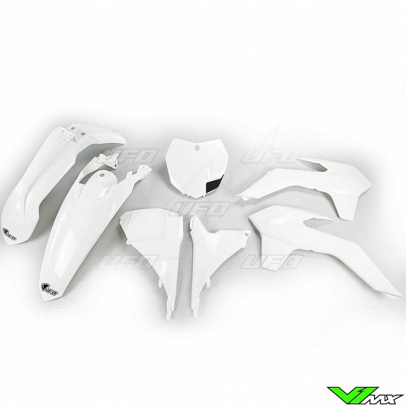 Plastic kit UFO white - KTM 125SX 150SX 250SX 250SX-F 350SX-F 450SX-F