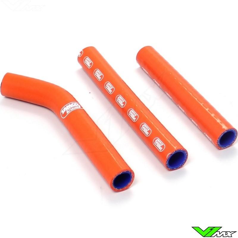 Radiatorhoses Samco sport orange - KTM 125EXC 200EXC Husqvarna TE125