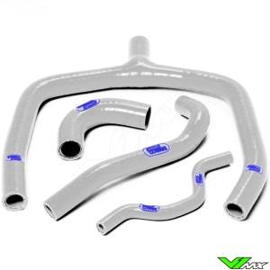Radiatorhoses (Y) Samco sport white - Kawasaki KXF250