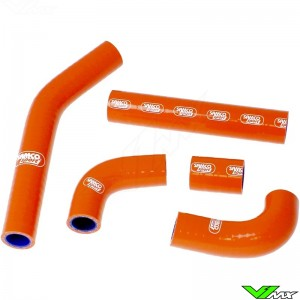 Radiatorhoses Samco sport orange - KTM 125EXC 200EXC
