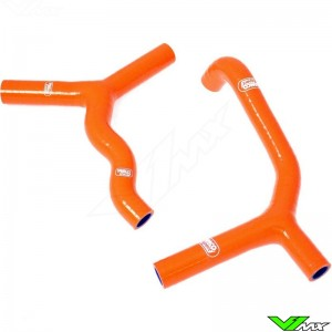 Radiatorhoses Samco sport orange - KTM 85SX