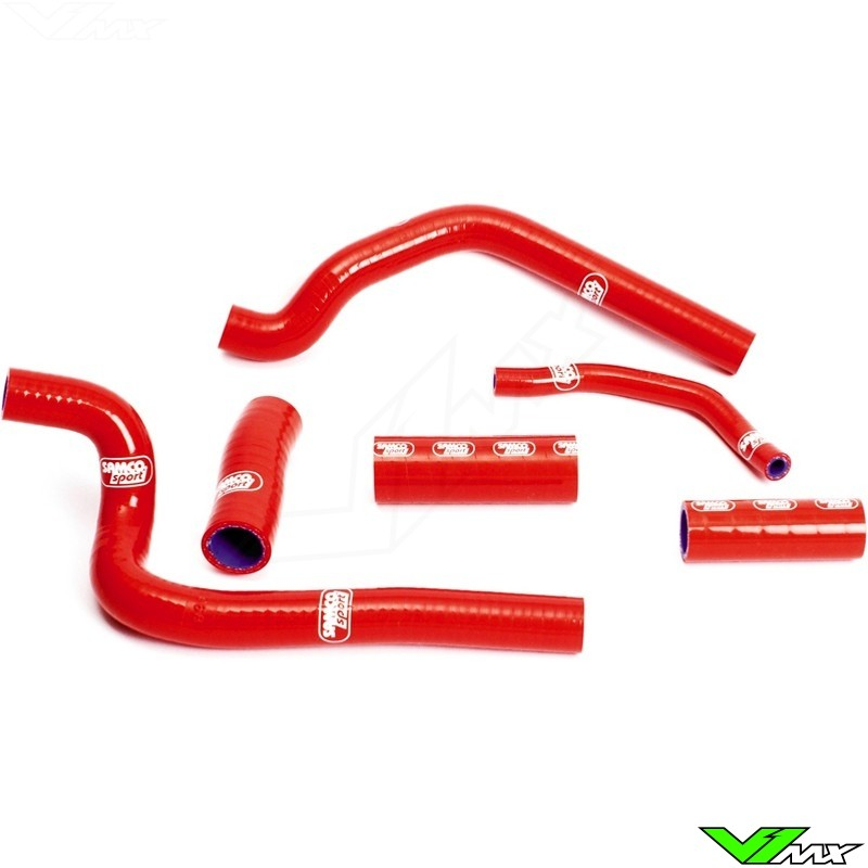 Radiatorhoses Samco sport red - Honda CR500