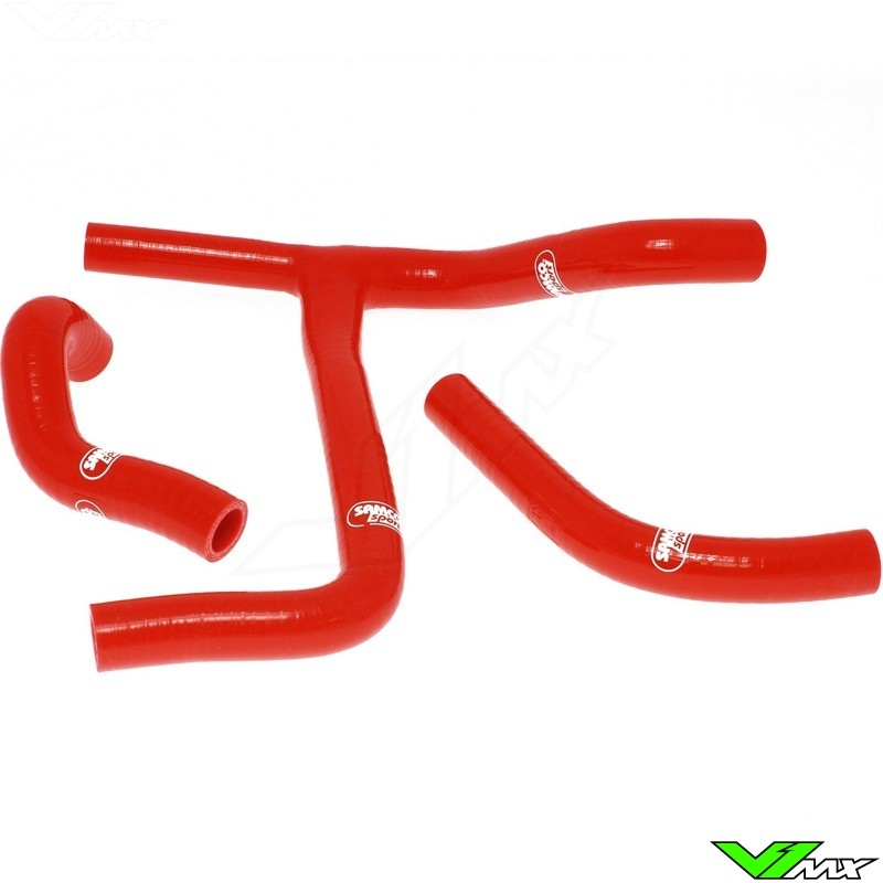 Radiatorhoses (Y) Samco sport red - Suzuki RMZ450