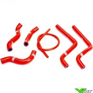 Radiatorhoses Samco sport red - Honda CR125