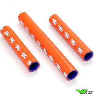 Radiatorhoses Samco sport orange - KTM 250EXC 300EXC Husqvarna TE250 TE300