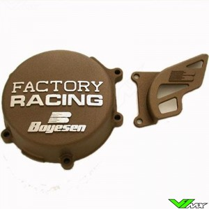 Ignition cover Boyesen magnesium - Kawasaki KX80 KX85 KX100