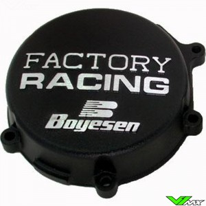 Ignition cover Boyesen black - Kawasaki KX80 KX85 KX100