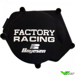 Ignition cover Boyesen black - Yamaha YZ250 YZ250X