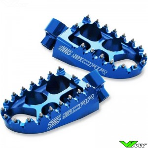 Foot pegs Scar Evolution blue - Kawasaki KX65 KX80 KX85