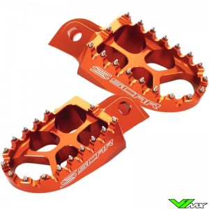 Foot pegs Scar Evolution orange - KTM 85SX Husqvarna TC85