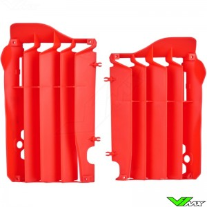 Radiator louvers Red Polisport - Honda CRF250R