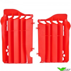 Radiator louvers Red Polisport - Honda CRF450R
