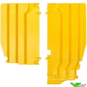 Radiator louvers Yellow Polisport - Suzuki RMZ250