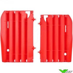 Radiator louvers Red Polisport - Honda CRF450R
